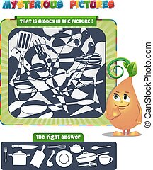 mysterious image - Visual Game for children. That is hidden...