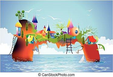 mysterious island,