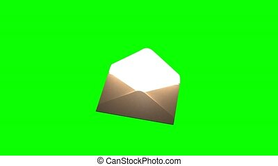 Mysterious letter. The letter on the green screen 79. -...