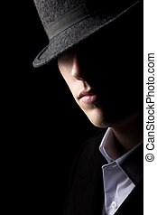 Mysterious man in hat