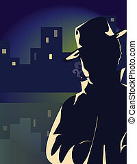 Mysterious Man - Description: A mysterious man in shadow...