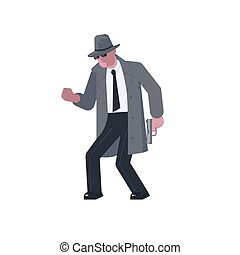 Mysterious Man With A Pistol Sneaks