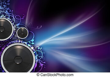 Mysterious Music - Music Background with Colorful Violet and...