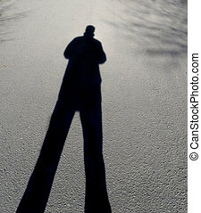 figure - Mysterious shadow of a male figure