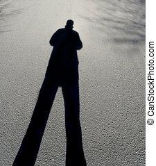 figure - Mysterious shadow of a male figure