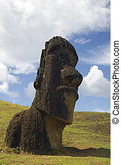mysterious statue - statue at easter island