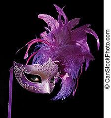 MysteriousMask - Mask plus eyes on black