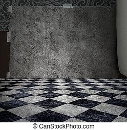 mysterium, vägg, silver