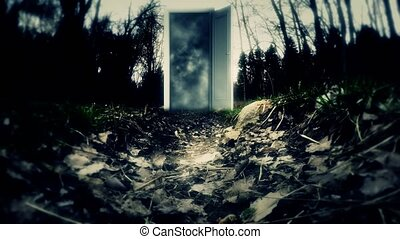 Mystery. An alien world. The Mysterious Door. 9 - Mystery....