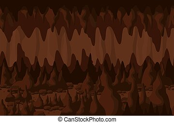 Mystery colorful cave tunnel landscape background underground cavern with stone