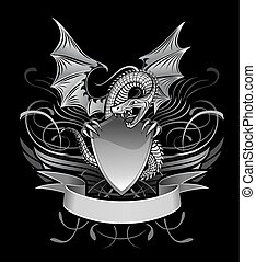Mystery Dragon Winged upon the Shield