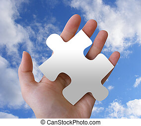 Mystery Puzzle Piece In Hand