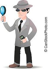 Mystery shopper man in spy coat