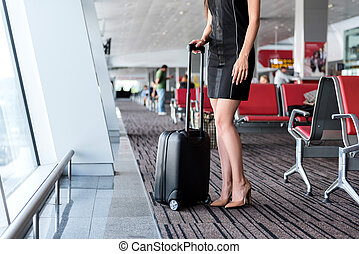 Mystery woman is travelling alone