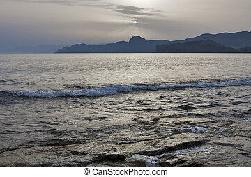 Mystic evening sea