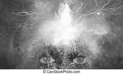 Mystic Face - Spiritual composition in dark art style. ...