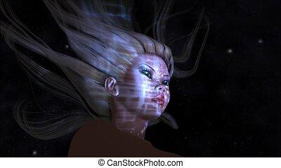 Mystic Female - Animation of a mystic Female