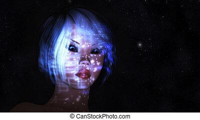 Mystic Female - Digital Illustration of a mystic Female