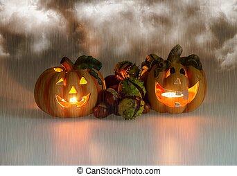 Mystic halloween background