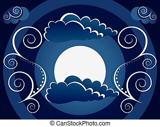 Mystic moon background