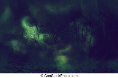 Mystic Night Forest