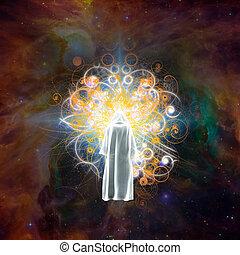 Mystic radiates energy