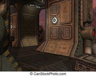 Mystic Sci-Fi Background - 3d render of a mystic sci-fi...