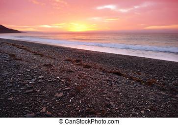 Mystic sunset at sea