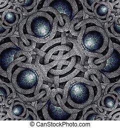 Mystic Symbol - Digital art futuristic geometric abstract...