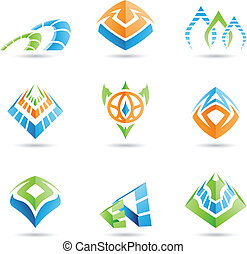 Mystic Symbols - Vector illustration of mystic pyramid like...