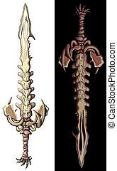 mystical bone sword