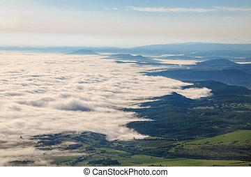 Mystical fog in the spring
