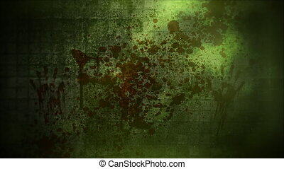 Mystical horror background with dark blood and motion camera