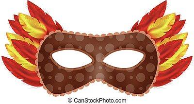 Mystical mask mockup, realistic style