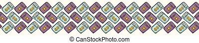 Mystical Seamless Vector Border of Set of Tarot Cards