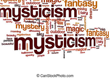 Mysticism word cloud concept