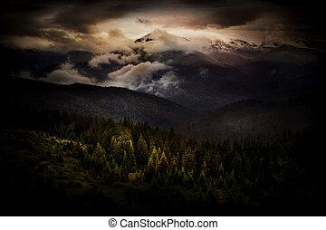 mystiker, landschaftsbild