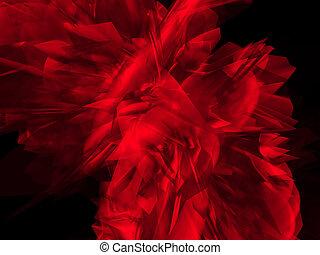 mystique, rouges, forme