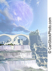 MYTH - A fairy tale castle on this beautiful alien planet ...