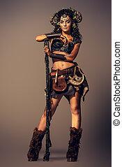 myth and fantasy - Full length portrait of a fairy female...