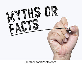 myth fact written by hand - myths or facts written by hand, ...