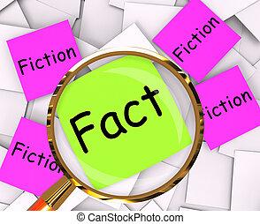 mythe, papiers, fiction, vérité, poteau-il, ou, fait, moyenne