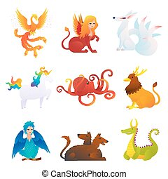 Mythical And Fantastic Creatures Set