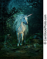 mythical unicorn, 3d CG - 3d computer graphics of a mythical...