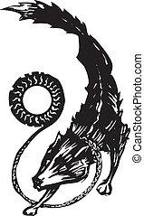 mythologique, loup, fenris