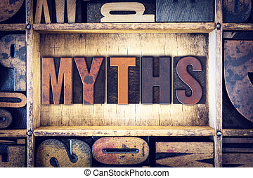 Myths Concept Letterpress Type