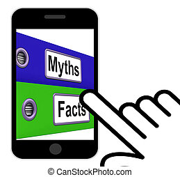 Myths Facts Folders Displays Factual And Untrue Information...