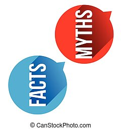 Myths Facts sign button vset