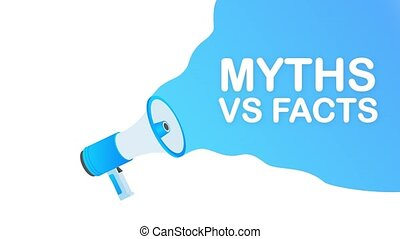 Myths vs facts. Icon on white backdrop. Versus vs background. icon. Motion design