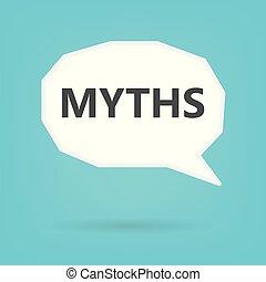 myths written on speech bubble- vector illustration